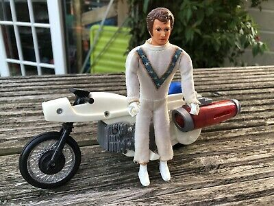 Evel Knievel Super Jet Stunt Cycle Rare With Action Figure • 25£