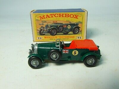 Matchbox Lesney Yesteryear Boxed Y-5 Blower Bentley • 28£