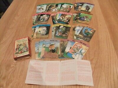 Woodland Happy Families Card Game - Racey Helps - Pepys Series - Complete • 10.50£