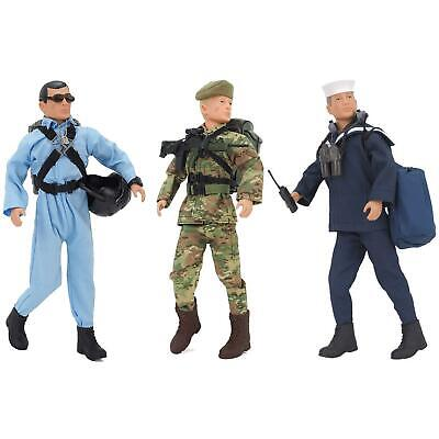 Action Man Deluxe Figures Army, Sailor, Pilot Toys With Clothes & Accessories • 24.99£