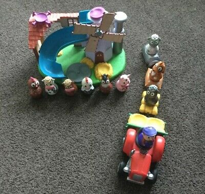 Weebles Weebledown Farm Playset , Tractor And 9 Farm Animal Figures . Fab ... • 25£