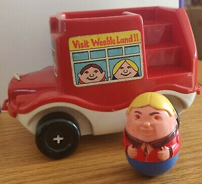 Rare Airfix Weebles Red Bus • 18£