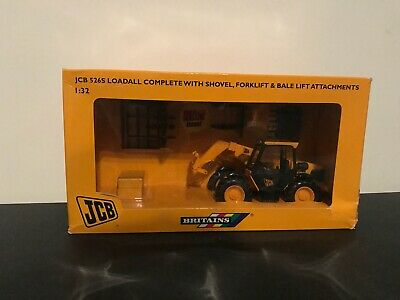 Britains 1:32 Scale Jcb 526s Loadall With Attachments And Bales • 8.50£
