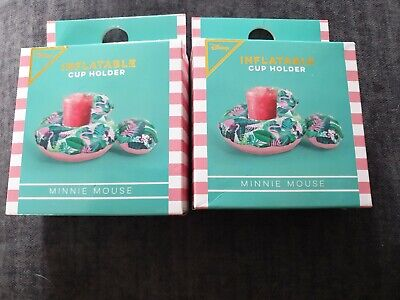 Primark Disney Minnie Mouse Inflatable Cup Holder X 2 BNIB • 3£
