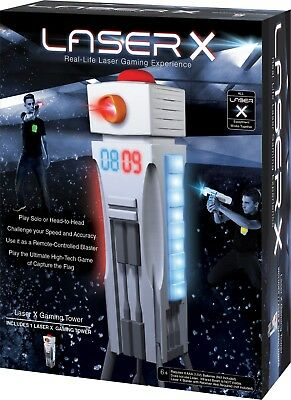 Laser X Gaming Tower Interactive 9 Bulit-in Games Playset Blaster &Vest Required • 16.90£