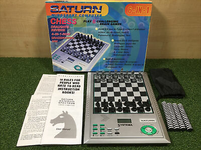Systema Saturn Mindsport Electronic Chess Computer 6 Games In 1 - Complete VGC • 22£