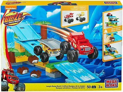 Mega Bloks BLAZE & THE MONSTER MACHINES - Jungle Ramp Rush Playset Toy • 16.99£