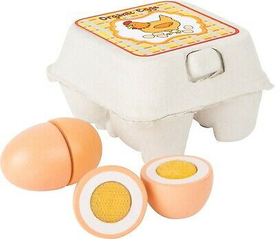 Small Foot Childrens Kids Role Play Pretend Wooden Eggs In Box Playset 10591 • 10.99£
