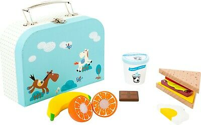 Small Foot Childrens Kids Role Play Pretend Cuttable Snack Set & Suitcase 11196 • 20.99£