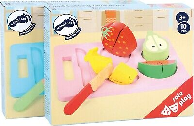 Small Foot Childrens Kids Role Play Pretend Delicacies Fruit Veg Fish Set 5865 • 23.99£