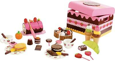 Small Foot Children's Role Play Food Pretend Cuttable Box Of Sweets Cakes 2847 • 55.49£