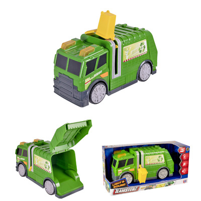 Teamsterz Large 10  Garbage Truck Bin Lorry Light & Sound Recycling Vehicle Toy • 14.99£