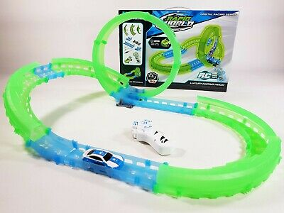 Electronic Slot Car Race Track Set Kids Remote Control Racing Toy Game Xmas Gift • 15.50£