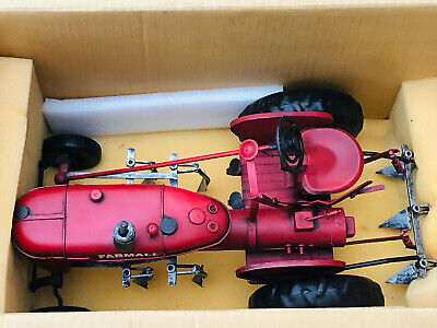 Large Farmall Tinplate Tractor 1/16 Scale Or Larger Original Box • 40£