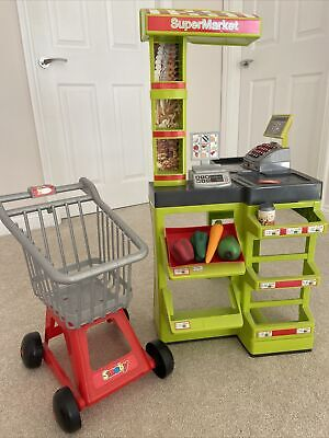Smoby Childs Toy Market/shop With Trolly Good Used Condition • 10£