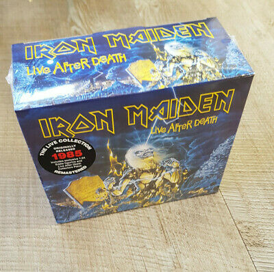Iron Maiden LIVE AFTER DEATH 2 X CD & EDDIE FIGURE & Patch  BOXED Sealed • 49.99£