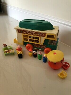 Fisher Price Play Family Camper With People And Accessories - 1970s Vintage • 7£