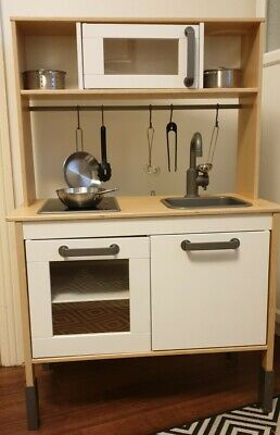 Ikea Wooden Play Kitchen With Accesories • 13.50£