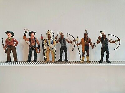 Cowboy And Red Indian Figures • 5£