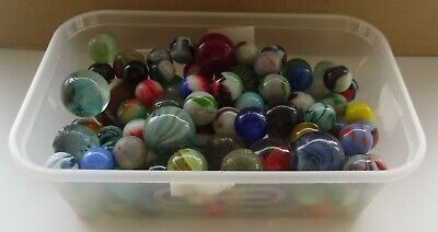 119 Job Lot Bundle Of Mixed Sizes Marbles Some May Be Handmade? • 4.99£