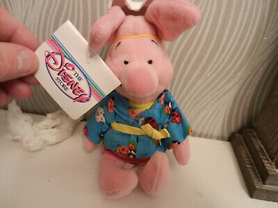 Disney Store Piglet With Japanese Mask And Outfit • 0.99£