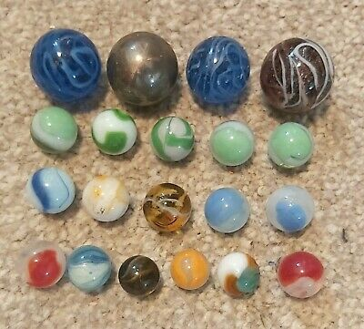Vintage Collection *20 UNUSUAL MARBLES* Different Colours Patterns (large Small) • 4.99£