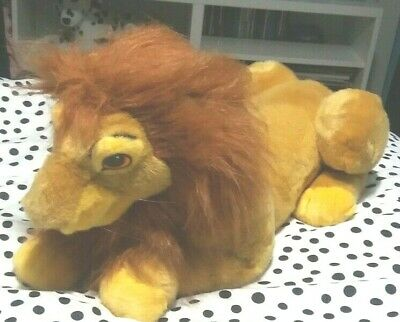 Disney Lion King Mufasa Rare Large Vintage Soft Toy Hand Puppet Plush 21  • 24£