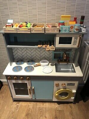 Child's Play Kitchen With Wooden Food Toys • 40£
