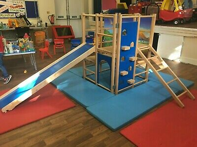 Wooden Climbing Frame With Slide • 150£