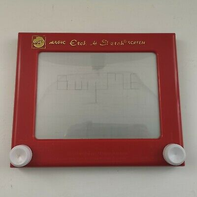Etch A Sketch Magic Screen Mattel 2009 Red - Children's Drawing Retro Toy (705) • 15£