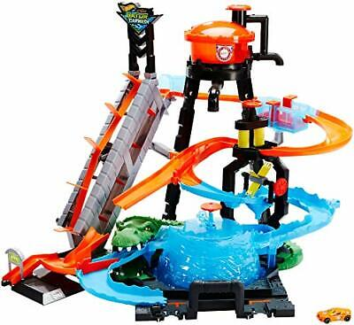 Hot Wheels FTB67 City Gator Car Wash Connectable Play Set With Diecast And Mini • 91.99£
