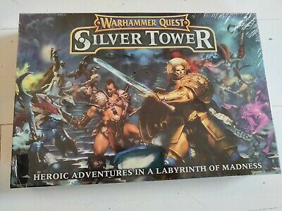 Games Workshop Warhammer Quest Silver Tower Boxed Game New Fantasy Sealed • 145£