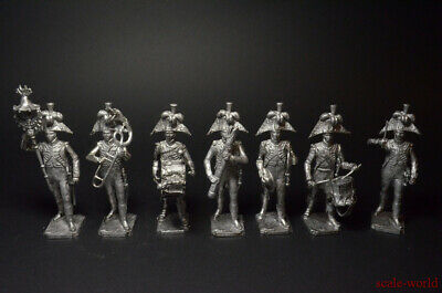 Tin Soldiers Set Orchestra Of The French Grenadiers 1812 7 Figures 54mm • 58.94£