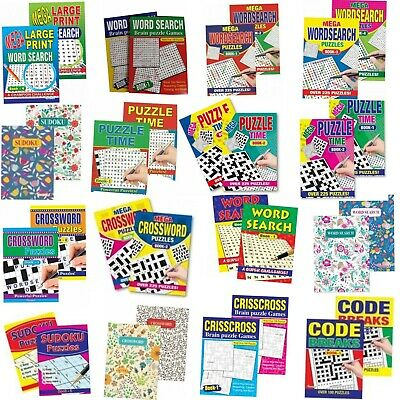 2 X Word Search Mega Puzzle Books,Crosswords/CrissCross Large Print Choice Of 11 • 4.35£