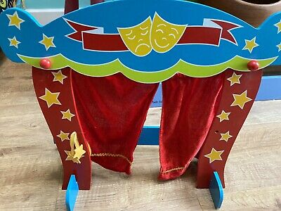 ELC Wooden Folding Puppet Theatre Company With Lots Of Puppets • 15£