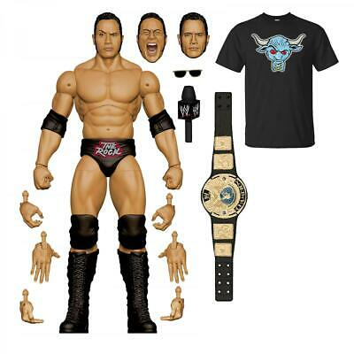 WWE Ultimate Edition The Rock Wrestling Figure Amazon Exclusive US Preorder • 60£