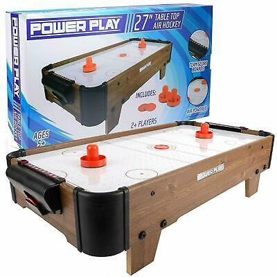 Table Top Air Hockey Game Wooden Tabletop Gaming • 29.95£