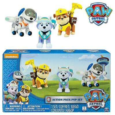 Paw Patrol Action Pack Pups Set Of Rubble, Everest & Robo Dog • 16.99£