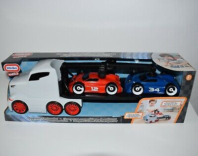 Little Tikes - Car Transporter Truck With Magnetic Car Loader & 2 Sport Cars • 21£