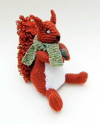 Soft Toy Hand Knitted Squirrel With Acorn Nutkin Woodland Animal  • 10£