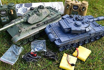 2.4ghz Large Interactive German RC Twin Battle Tank Radio Remote Control Tank  • 44.99£