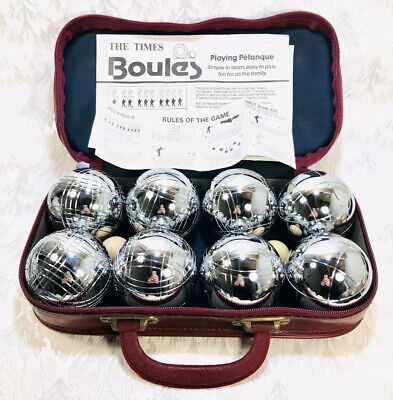 OBUT Metal Petanque Boules And 2 Wooden Jacks With Carrycase & Rules Of The Game • 79.99£
