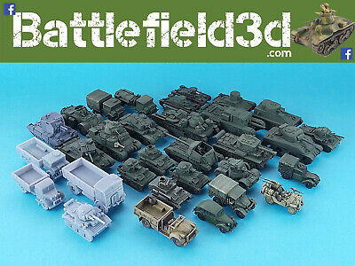 15mm-1/100  High Quality Resin 3D Printed Vehicles - Flames Of War Etc. • 3.50£