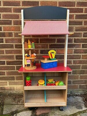 Wooden Play Cafe / Shop PLUS Wooden Food Items • 12£