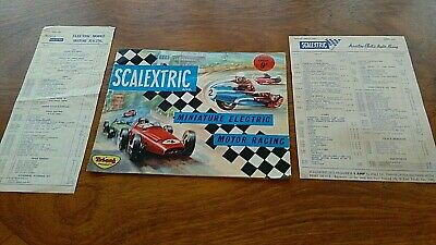 SCALEXTRIC CATALOGUE & PRICE LIST 1963 4th EDITION, WITH 1962 PRICE LIST • 11.99£