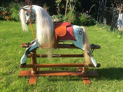 Vintage/Antique Late 1800's Restored Small Child's Collectible Rocking Horse • 500£