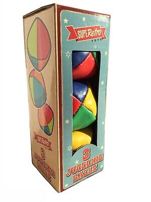 Juggling Balls  Retro  3 Pack SupeRetro Circus Clown Learn To Juggle Soft Toy  • 3.99£