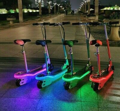 2021 Model Kids Electric Scooter LED 120W Childrens E Scooter Seated Girls Boys  • 299.99£