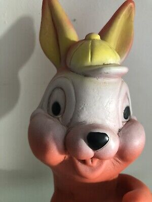 VINTAGE Rabbit LONE STAR EAGLET SERIES TOY SQUEAKER Easter Bunny RARE 50s 60s 70 • 18.99£