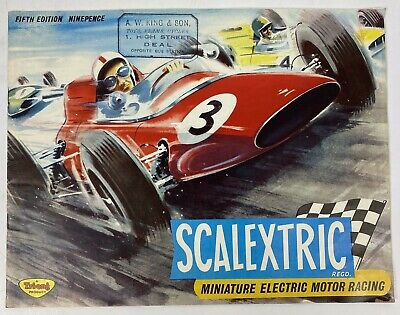 Scalextric Rare Original Vintage Fifth Trade Catalogue, Triang, Lovely Artwork • 7.99£